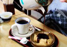くずもちとコーヒー